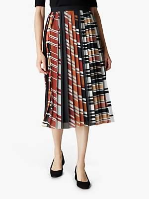 Jaeger Graphic Stripe Skirt, Multi