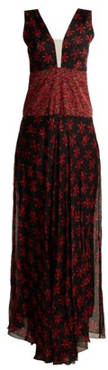 Raquel Diniz Gabrielle Floral-print Sleeveless Gown - Multi