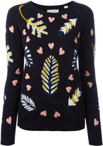 Chinti and Parker intarsia leaf jumper - women - Cashmere - S
