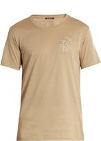 Balmain Logo-embroidered short-sleeved cotton T-shirt