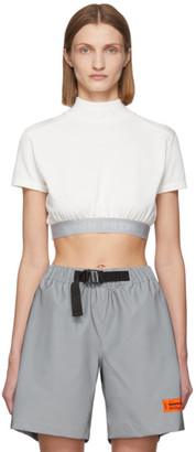 Heron Preston White Style Crop T-Shirt
