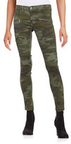 Design Lab Lord & Taylor Camo Moto Zip Pants