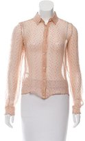 Miu Miu Polka Dot Button-Up Top