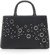Marc B Brook Black Eyelet Handbag