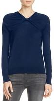 Maje Mistral Twist-Front Sweater