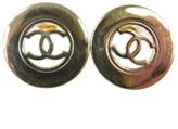 Chanel Silver Tone Earrings