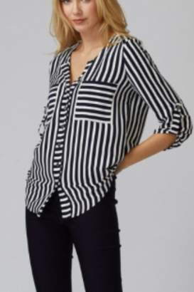 Joseph Ribkoff Nautical Button Blouse