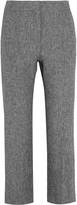 Barbara Casasola Cropped linen flared pants