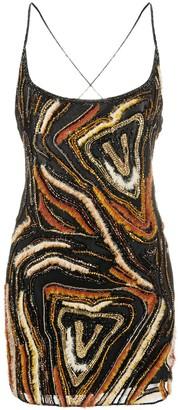 Versace Virtus Animalier embroidered mini dress