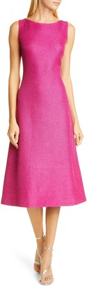 St. John Textured Metallic Inlay Knit Dress