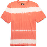 Stüssy - Spray Stripe Garment-dyed Cotton-jersey T-shirt