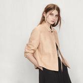 Maje Woven fabric cropped jacket