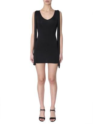 Moschino Fringe Sleeved Mini Dress