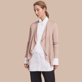Burberry Merino Wool Silk Open Cardigan