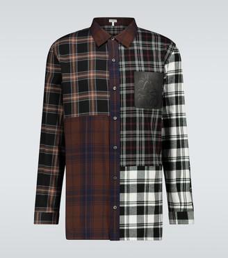 Loewe Checked colorblocked shirt