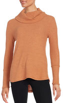 Design Lab Lord & Taylor Cowl Neck Waffle Knit Top