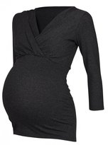 Happy Mama Boutique Happy Mama. Womens Maternity Nursing 2in1 Top Shirt Stretch 3/4 Sleeve. 618p (