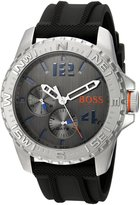 BOSS ORANGE Men's 'REYKJAVIK' Quartz Stainless Steel and Rubber Automatic Watch, Color: (Model: 1513412)