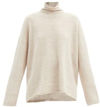 LAUREN MANOOGIAN Roll-neck Alpaca-blend Sweater - Light Beige