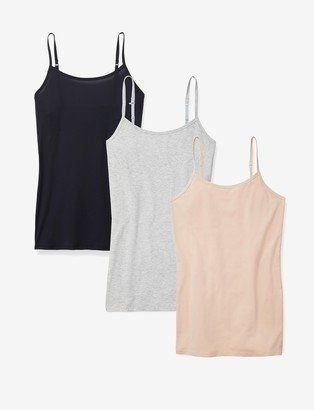 Tommy John Women's Cool Cotton Stay-Tucked Camisole 3 Pack