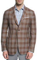 Ermenegildo Zegna Capri Plaid Two-Button Sport Coat, Brown