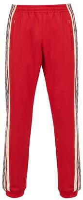 Gucci Gg-print Technical Track Pants - Mens - Red Multi