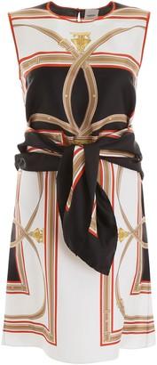 Burberry Archive Print Tie Waist Dress