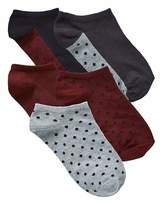 Naturally Close 5 Pack Berry/Black Trainer Socks