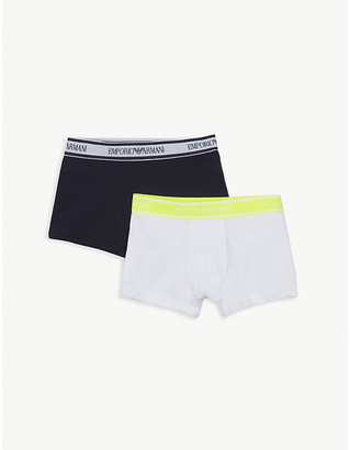 Emporio Armani Stretch-cotton boxer pack of two 4-16 years