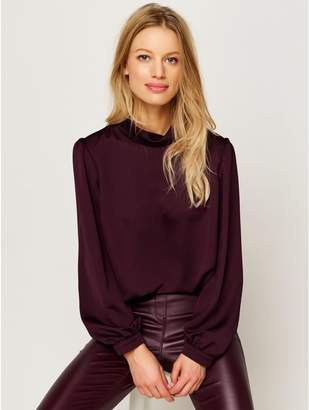 M&Co High neck satin blouse