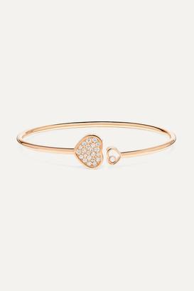 Chopard Happy Hearts 18-karat Rose Gold Diamond Cuff - one size