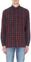 Vince Military Checked Regular-fit Brushed-cotton Shirt