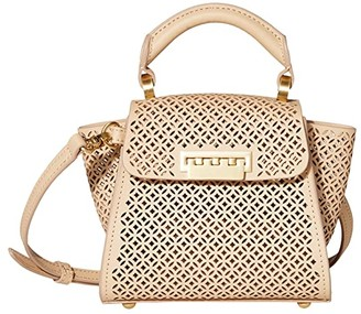ZAC Zac Posen Eartha Mini Top-Handle Crossbody - Floral Perforation (Wheat) Handbags