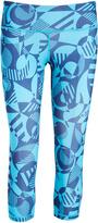 Head Vivid Blue Geometric Decoder Capri Leggings