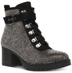 Wild Pair Hillari Lug-Sole Hiker Booties, Created for Macy's Women's Shoes