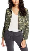 Boohoo Petite Women's Ally Camoflage Denim Jacket,4