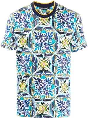 Dolce & Gabbana tile print T-shirt