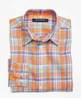 Brooks Brothers Irish Linen Plaid Sport Shirt