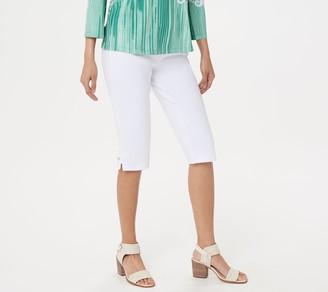 Bob Mackie Cotton Ponte Pedal Pushers Pull-On Pants