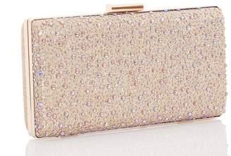 Quiz Rose Gold Jewel Shimmer Box Bag