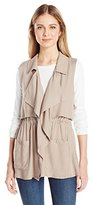 Jack by BB Dakota Women's Cider Utility Vest with Back Button Detail