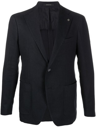 Tagliatore Single-Breasted Pin Detail Blazer