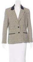Chanel Tweed Wide-Lapel Blazer
