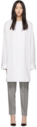 Haider Ackermann White Long Tunic Shirt
