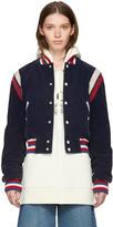 Gucci Blue Corduroy hollywood Bomber Jacket