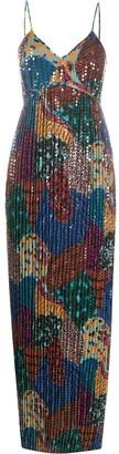 M Missoni Long Sequin-Embellished Dress