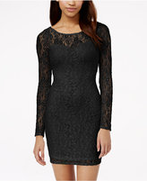 Material Girl Lace Illusion Bodycon Dress, Only at Macy's