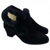 Bally Black Velvet Ankle boots