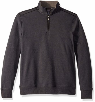 Van Heusen Men's Big and Tall Flex Fleece Long Sleeve Quarter Zip