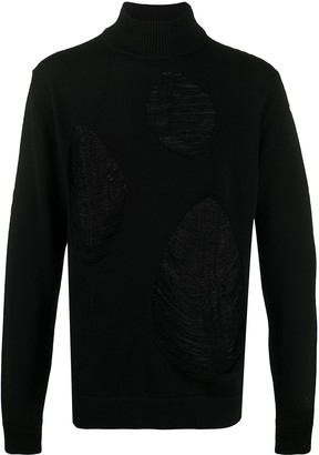 A-Cold-Wall* Sheer Panelled Roll Neck Jumper